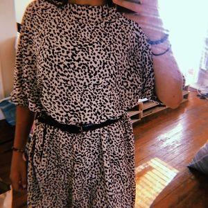 Cheetah t-shirt dress